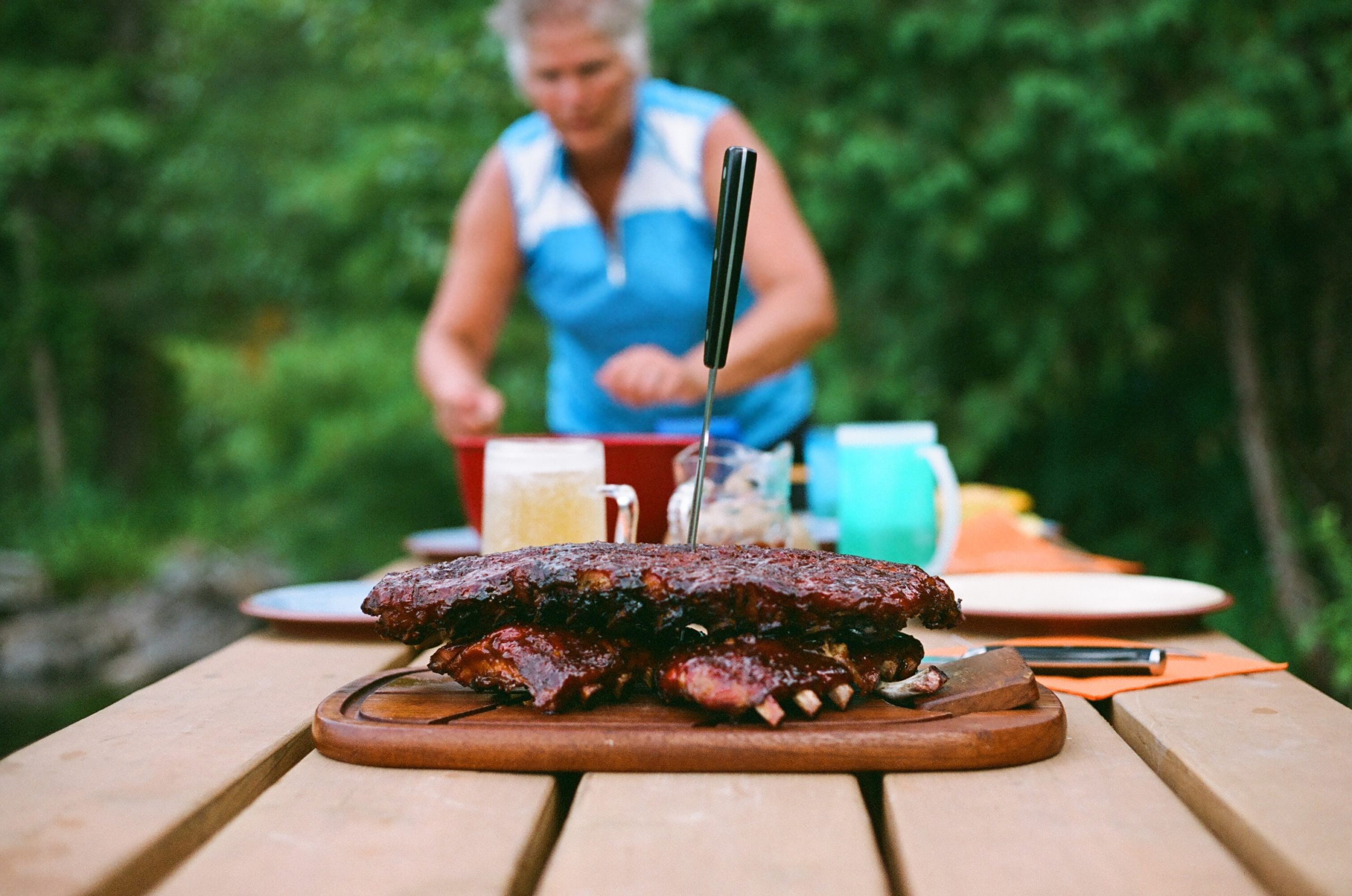 Ribs on the picnic table